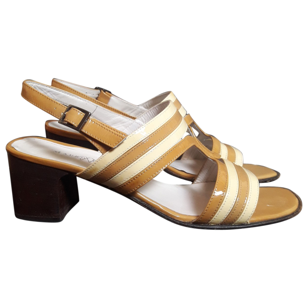 Non Signé / Unsigned \N Camel Patent leather Sandals for Women 38 EU