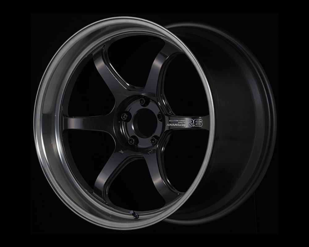 Advan R6 Wheel 20x9.5 5x120 22mm Machining & Black Coated Graphite