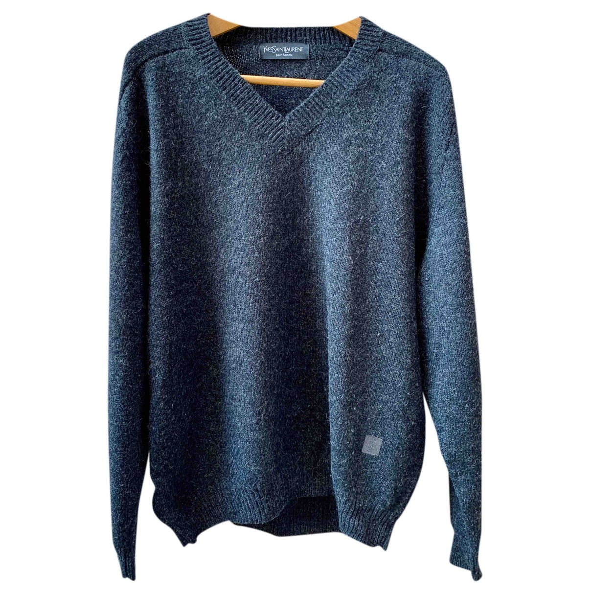 Yves Saint Laurent N Grey Wool Knitwear for Women XXL International