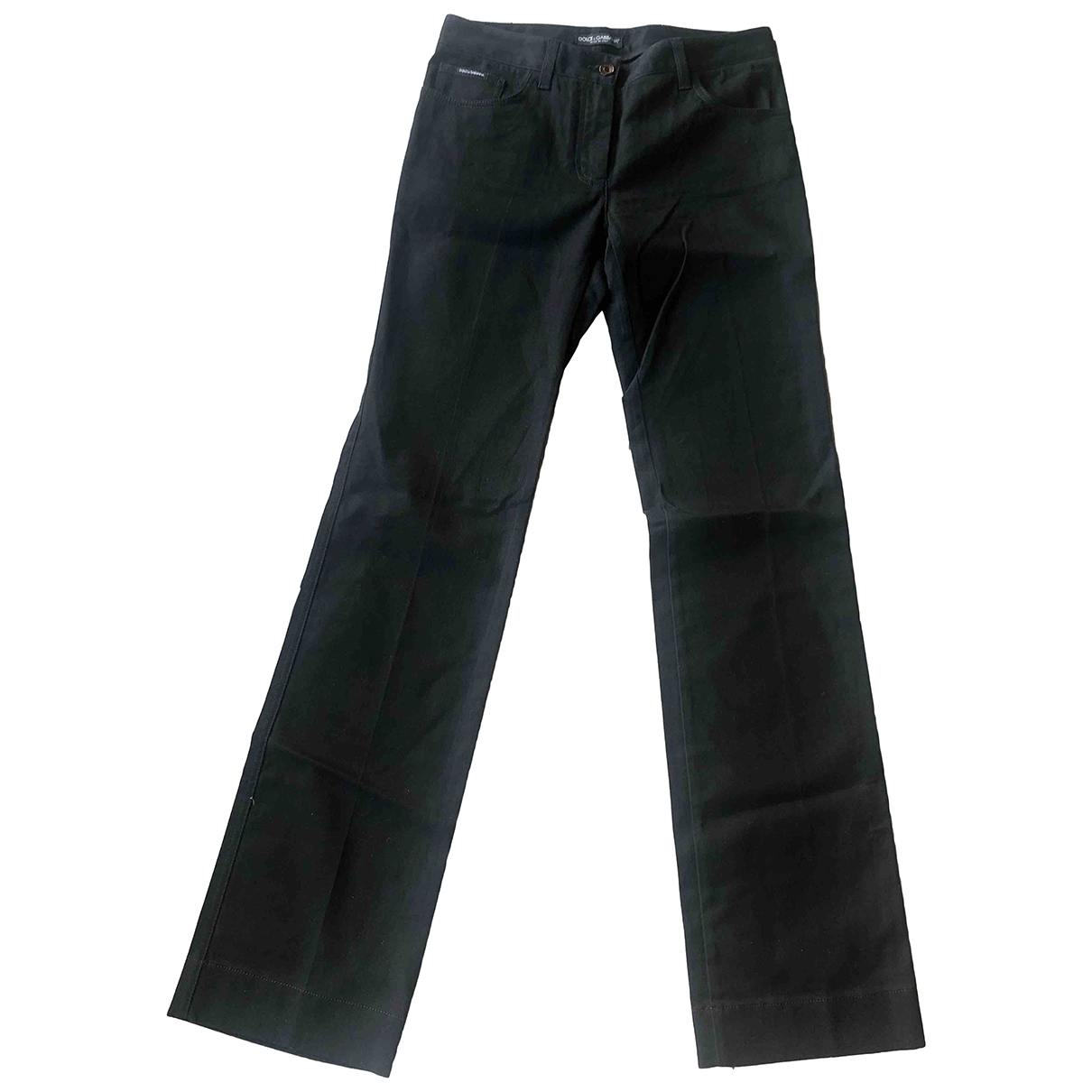 Dolce & Gabbana \N Black Cotton - elasthane Jeans for Women 30 US