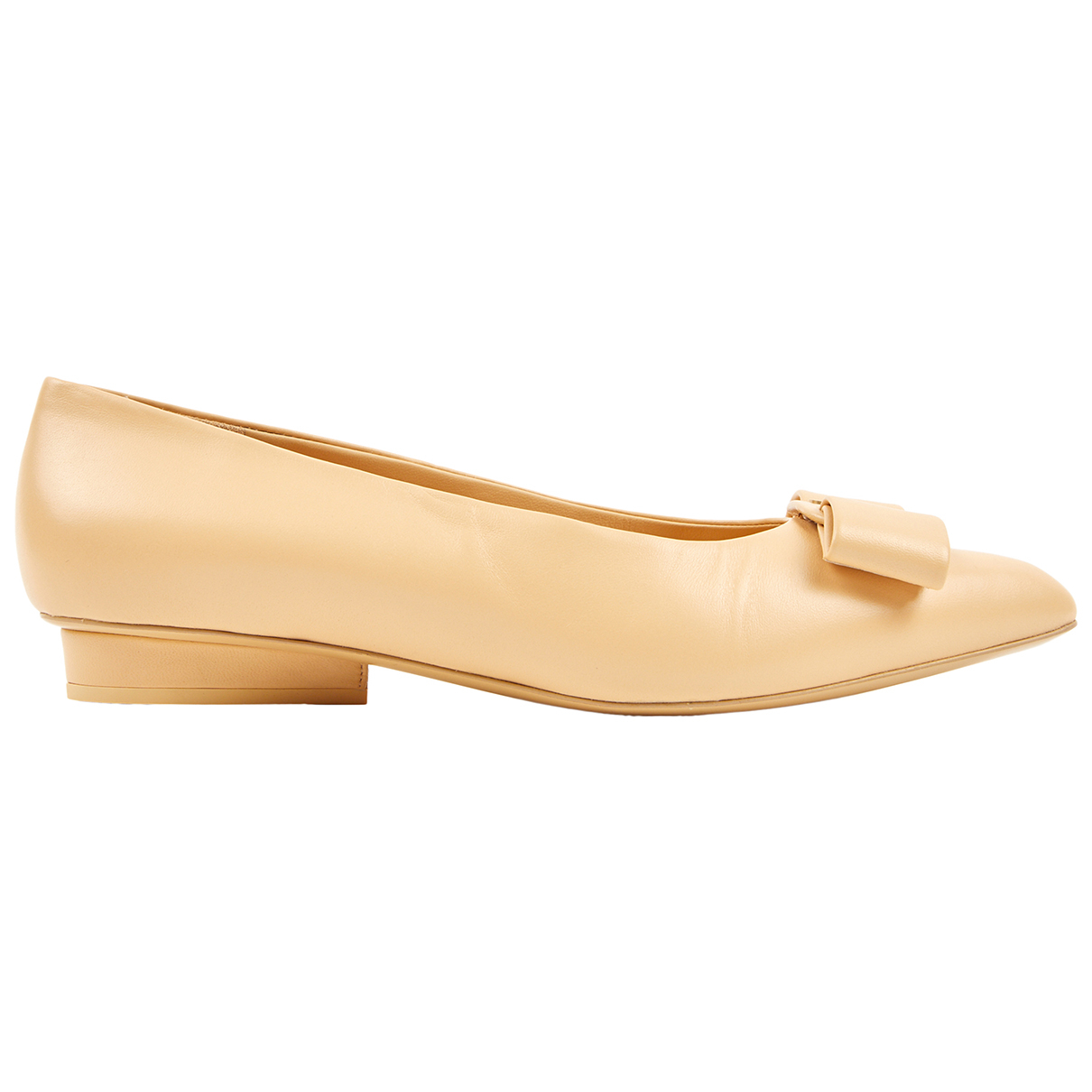 Salvatore Ferragamo N Beige Leather Heels for Women 39.5 EU