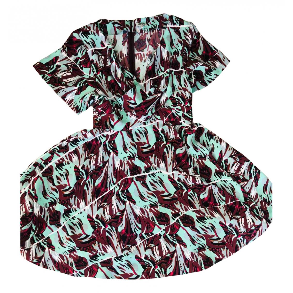 Kenzo \N Kleid in  Bordeauxrot Polyester