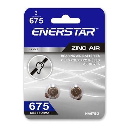 HEARING AID ZINC-AIR BATTERIES SIZE 675 2/PACK