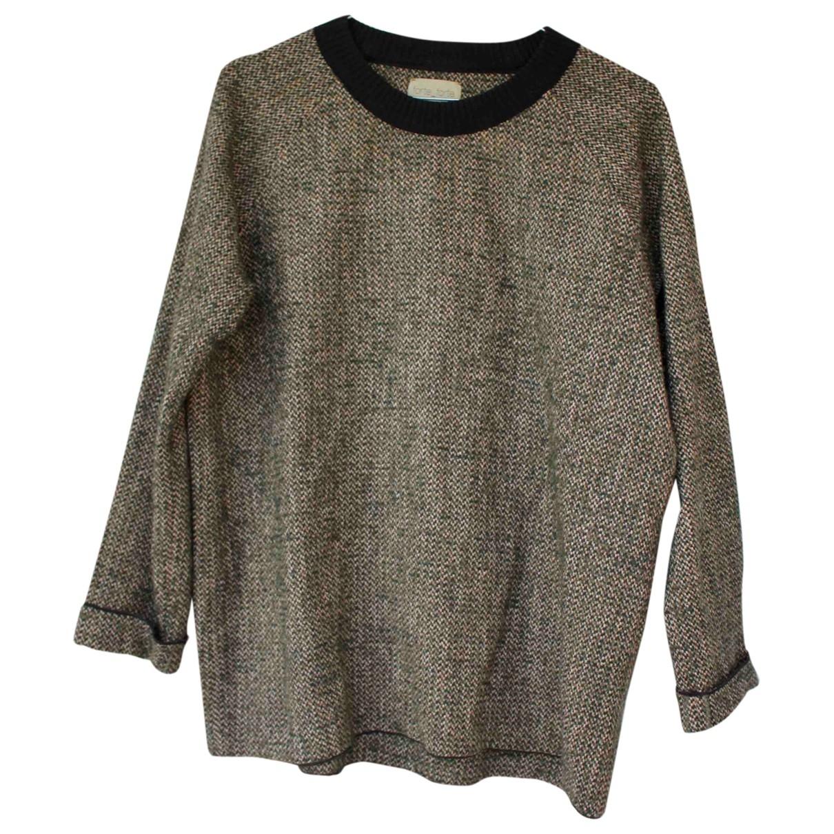 Forte_forte \N Pullover in  Khaki Baumwolle