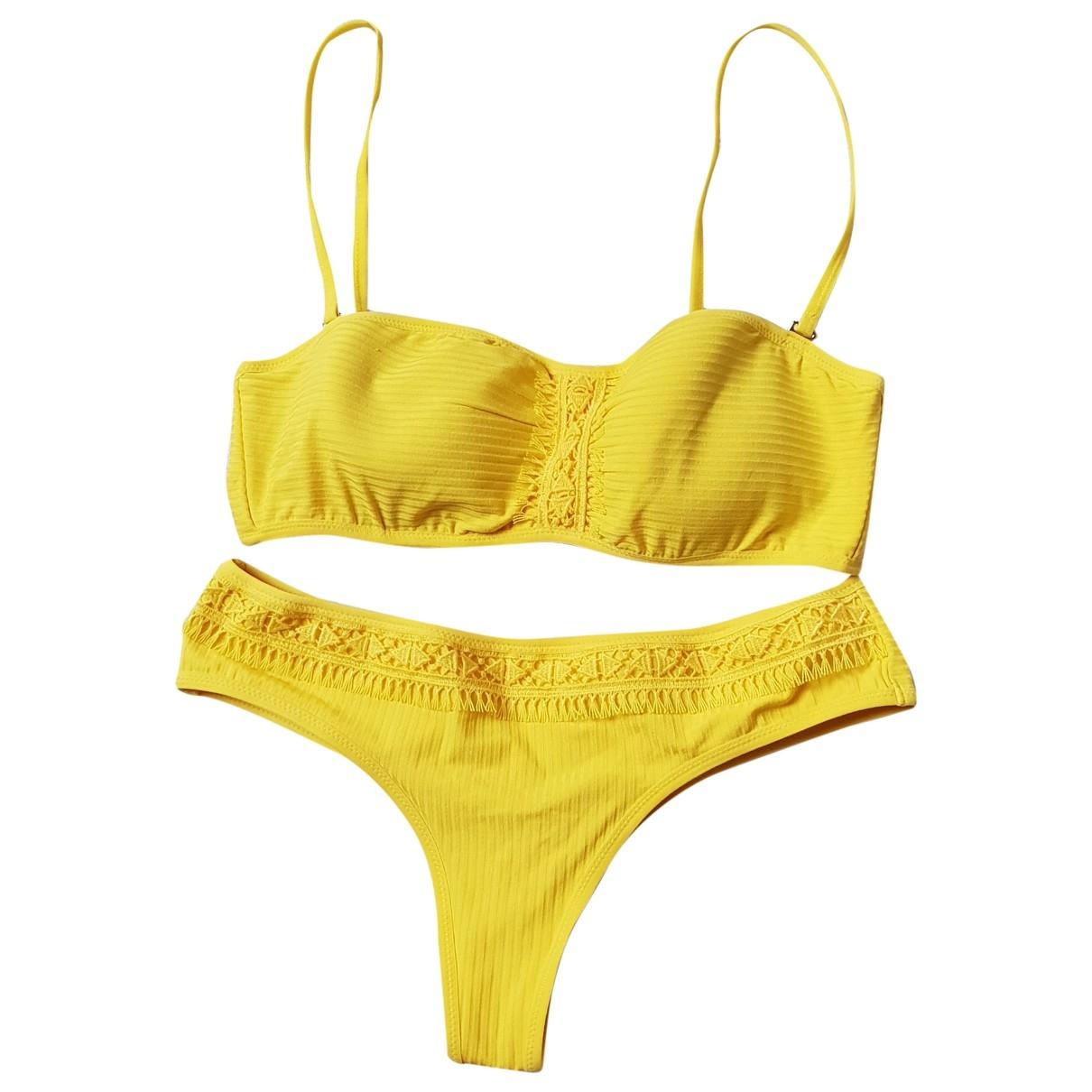 Andres Sarda \N Badeanzug in  Gelb Polyester