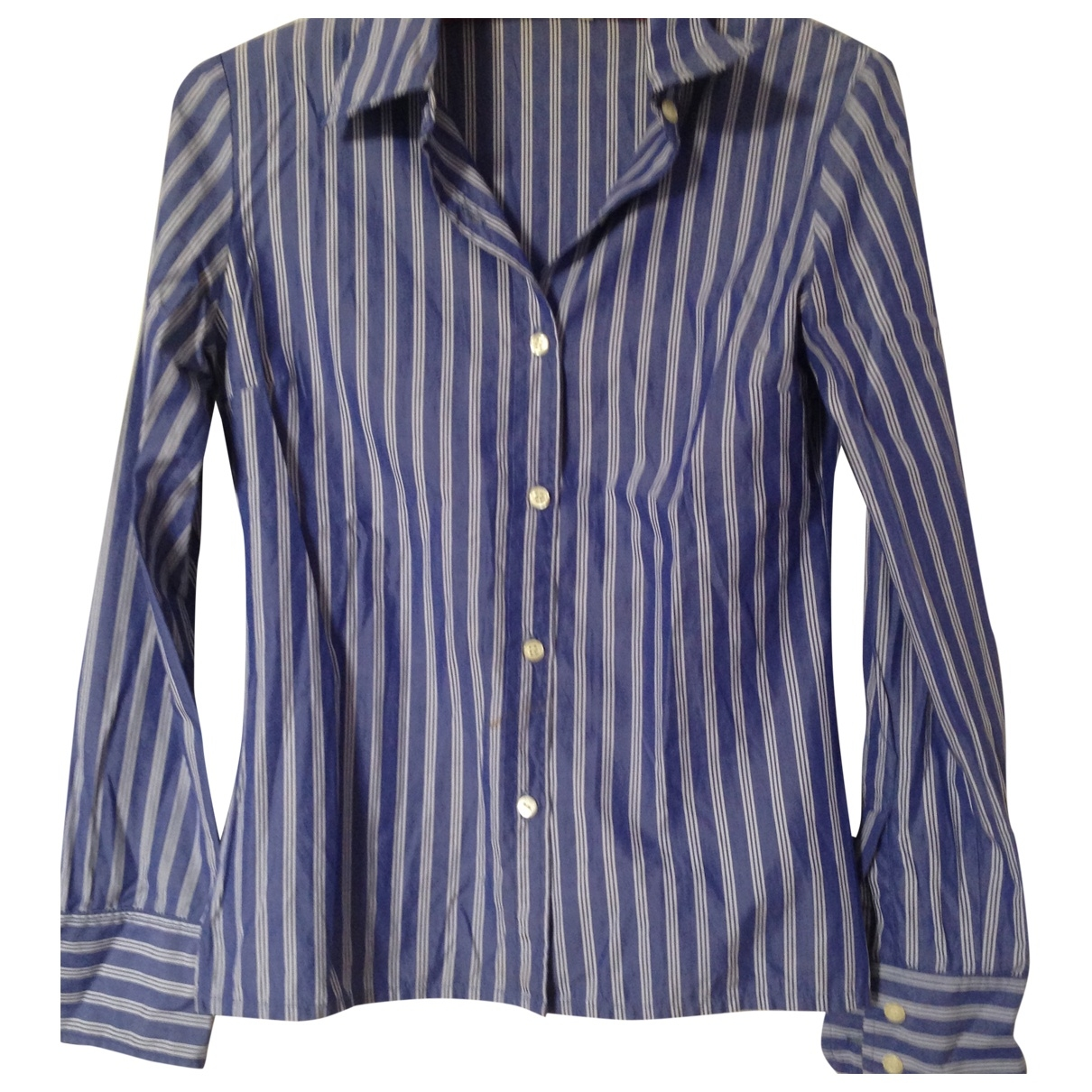 J & M Davidson \N Blue Cotton  top for Women 10 UK