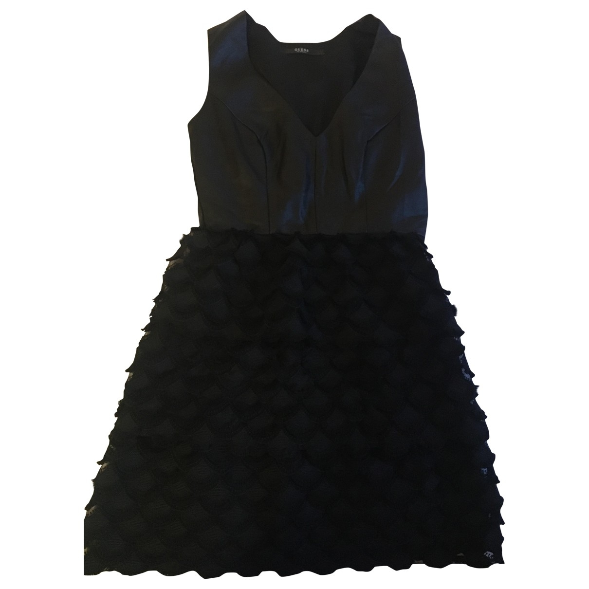 Guess \N Kleid in  Schwarz Leder