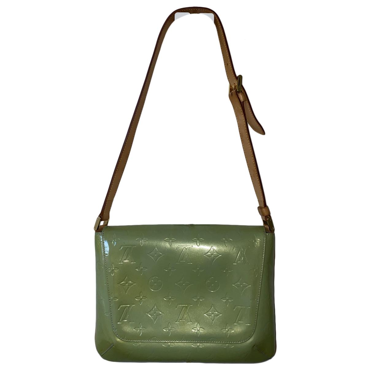 Louis Vuitton - Sac a main Thompson pour femme en cuir verni - vert
