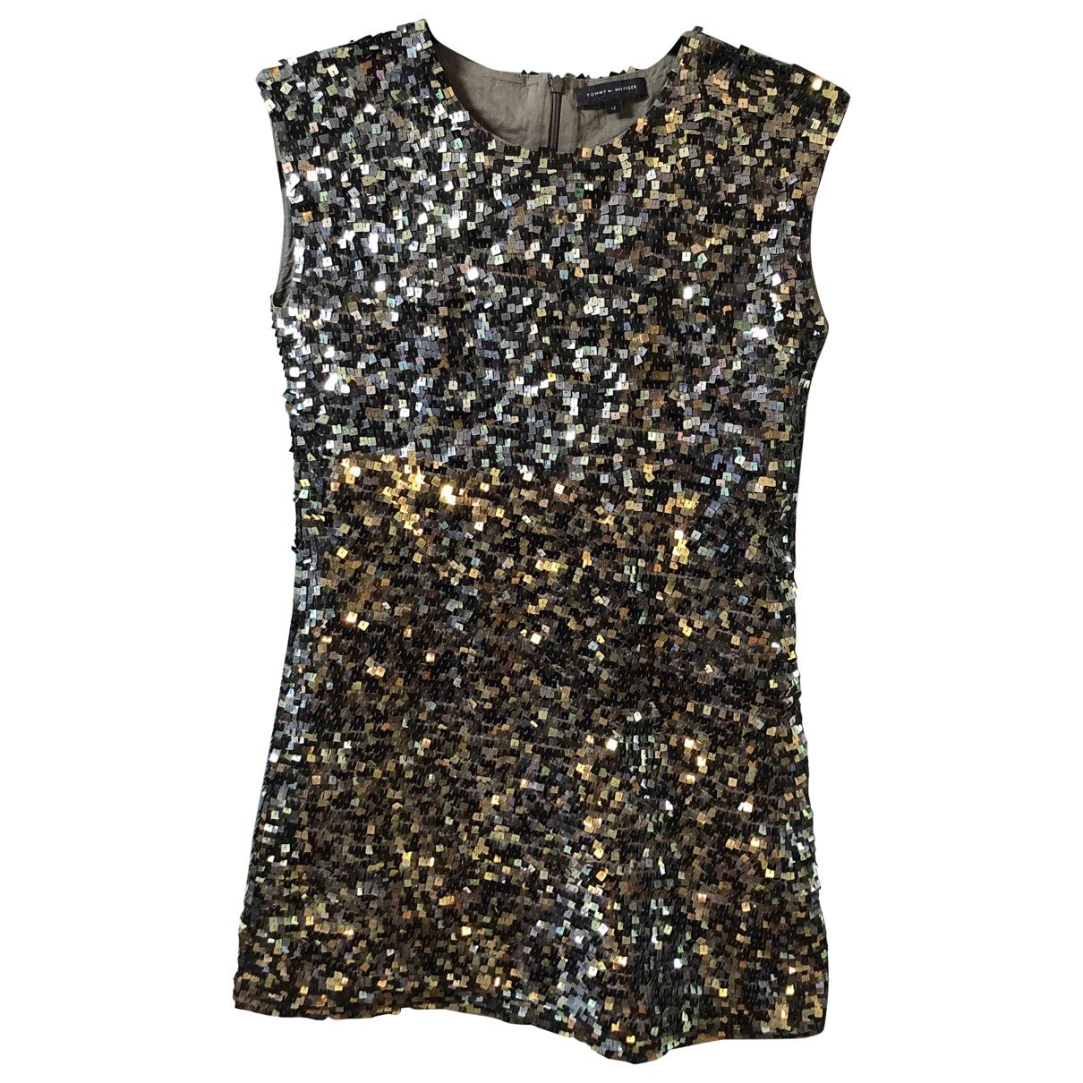 Mini vestido de Con lentejuelas Tommy Hilfiger