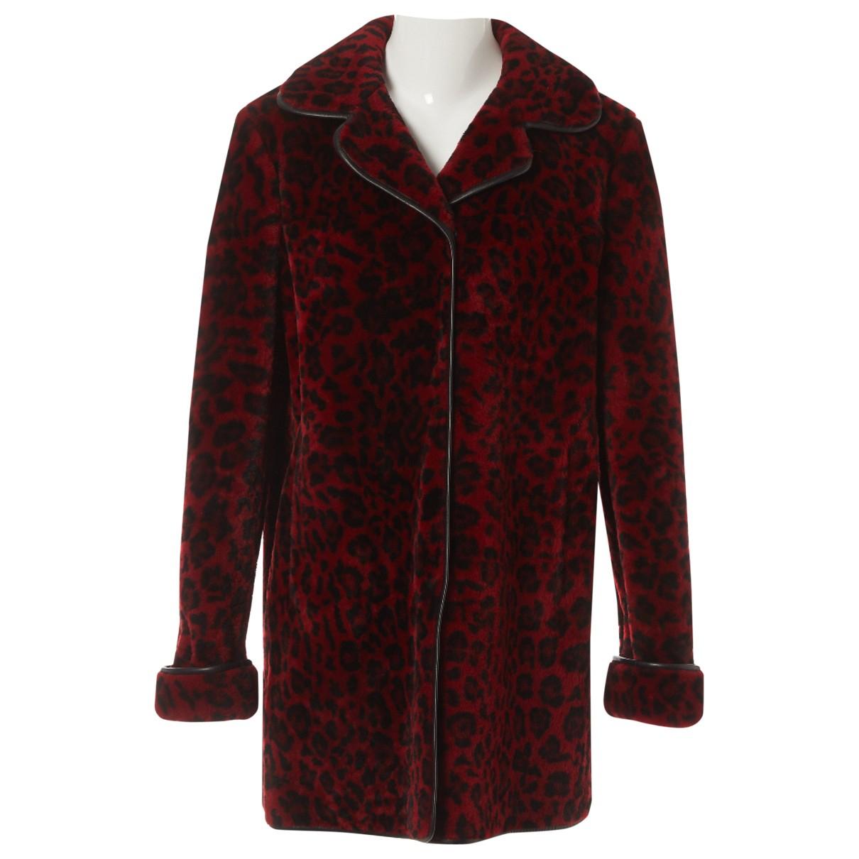 Miu Miu - Manteau   pour femme en mouton - multicolore