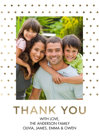 Thank You Cards Mail-for-Me Premium 5x7 Folded Card , Card & Stationery -Thank You Dotted Folded