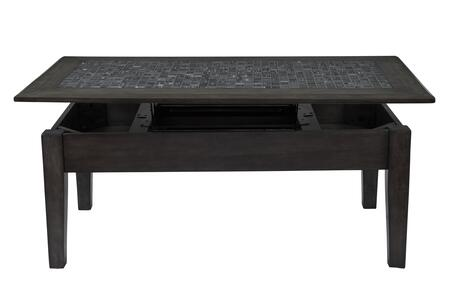 BM184035 Stone Marble Cocktail Table With Lift Top  Dark