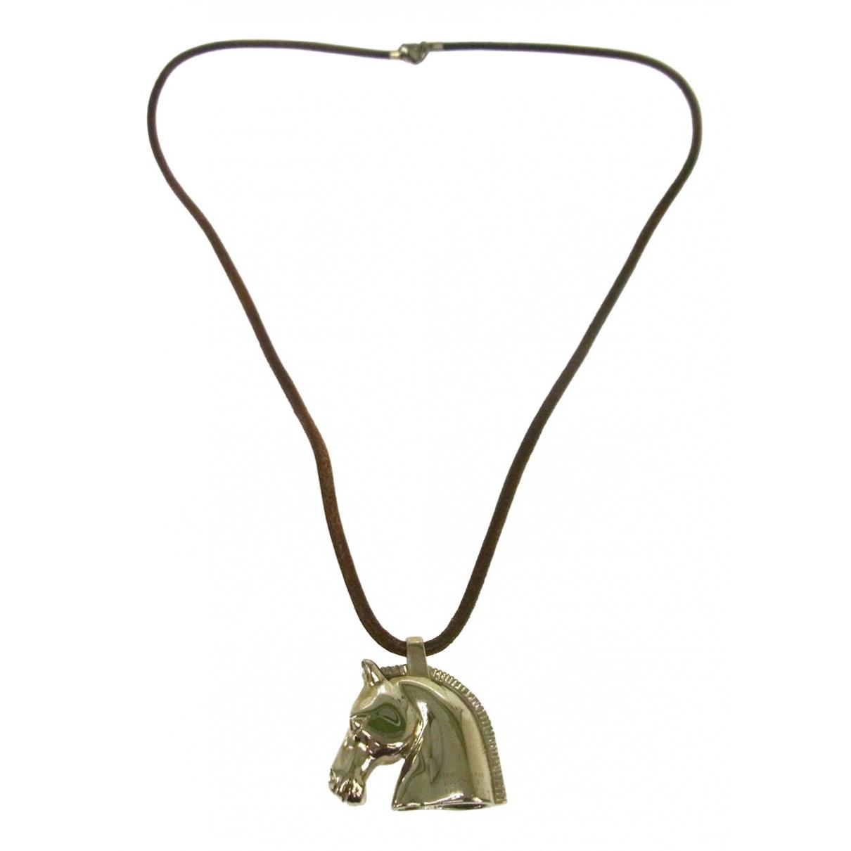 Hermes - Collier   pour femme en metal - argente