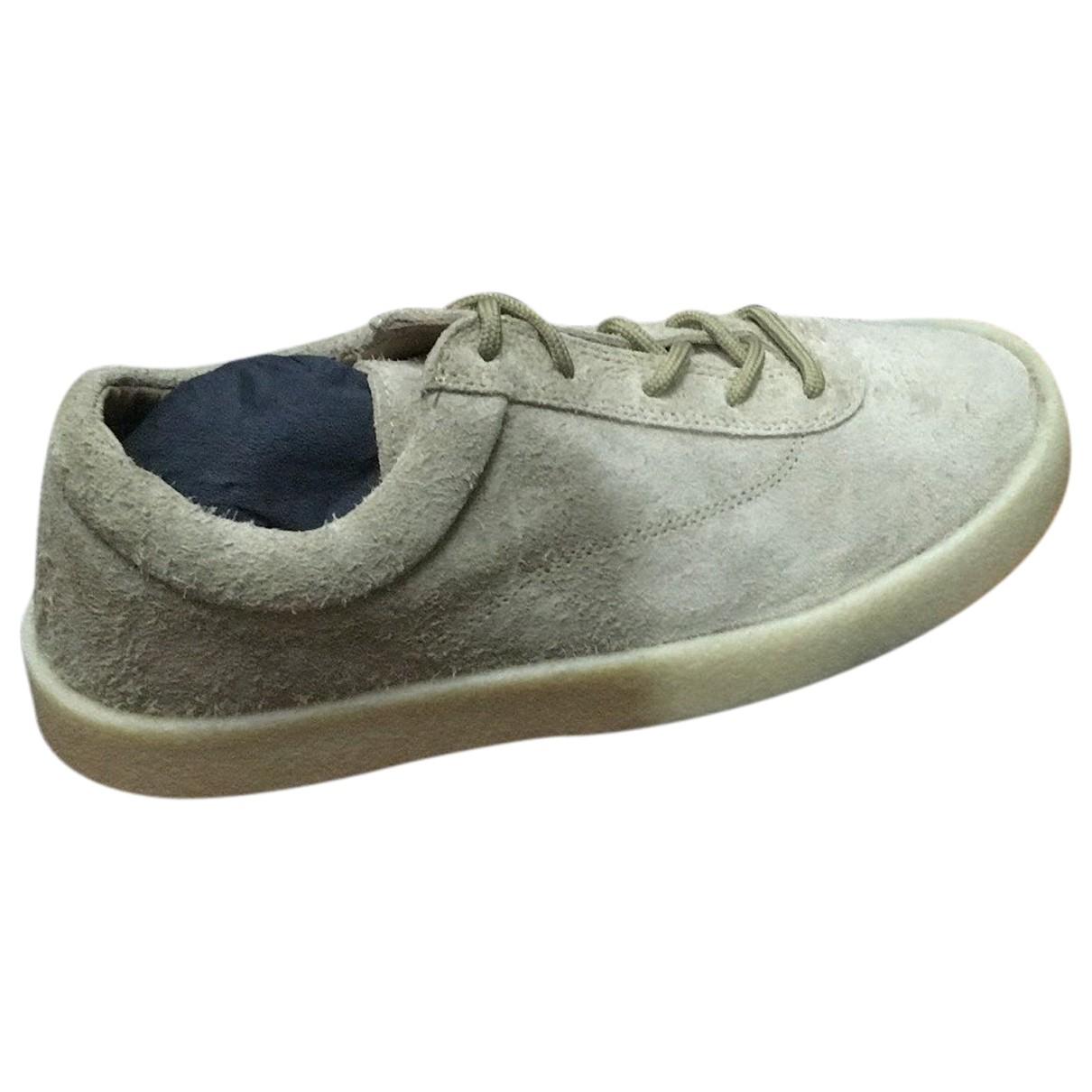 Yeezy - Baskets   pour homme en suede - gris