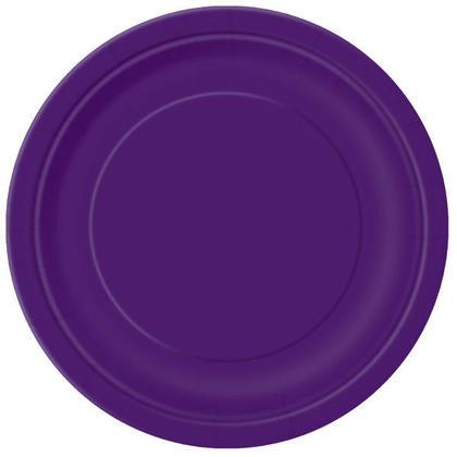 Assiette ronde en papier de fête 9