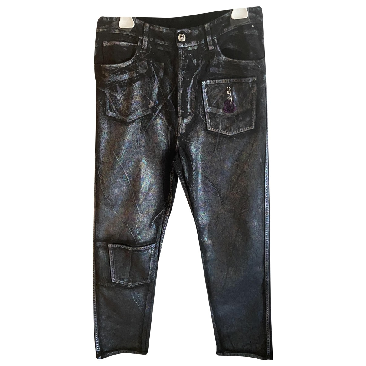 Moncler Genius - Pantalon Moncler n°8 Palm Angels pour homme en coton - argente