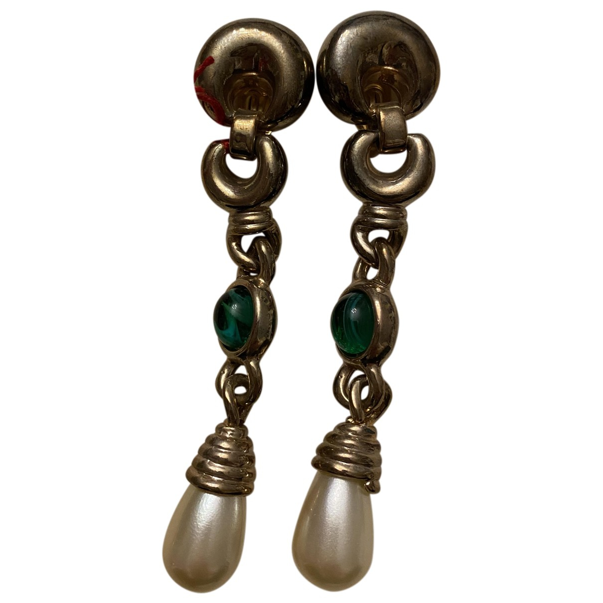 Non Signé / Unsigned N Multicolour Gold plated Earrings for Women N