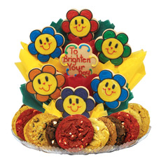 Smiling Face Daisies Cookie BouTray™