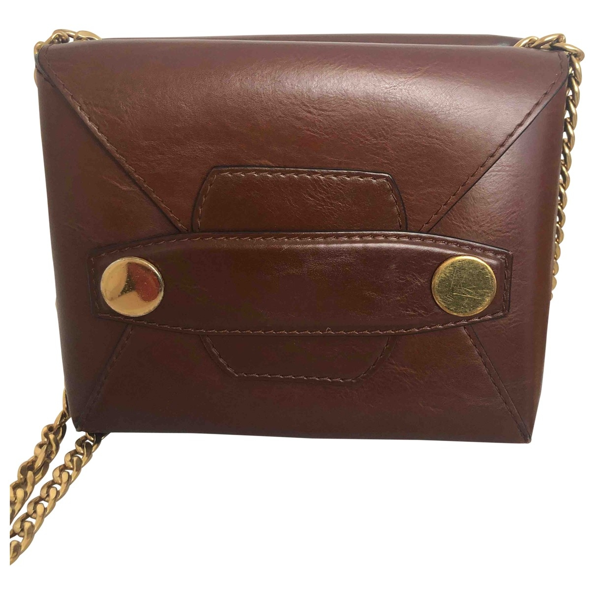 Stella Mccartney Stella Popper Brown Cloth handbag for Women \N