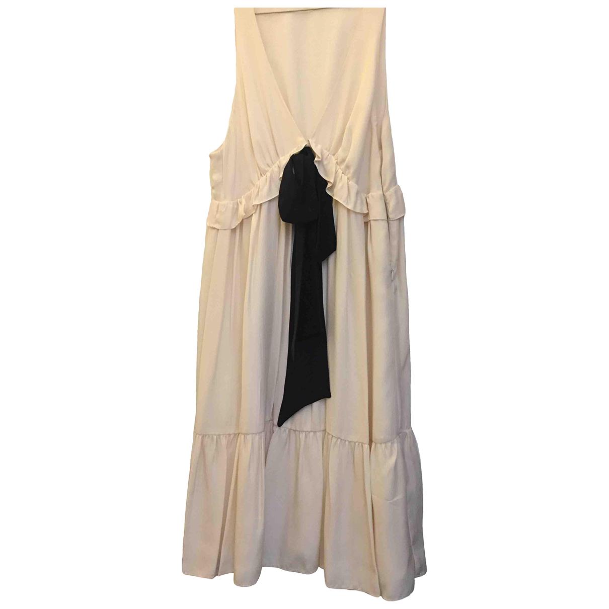 Sandro \N Kleid in  Weiss Seide