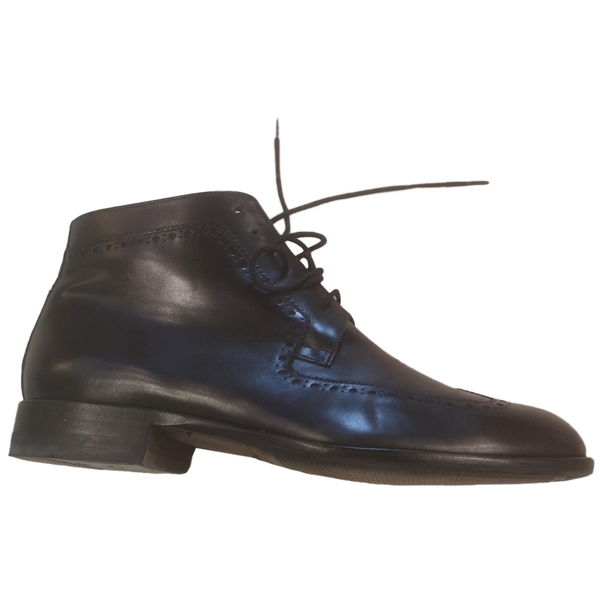 Dior \N Stiefel in  Schwarz Leder