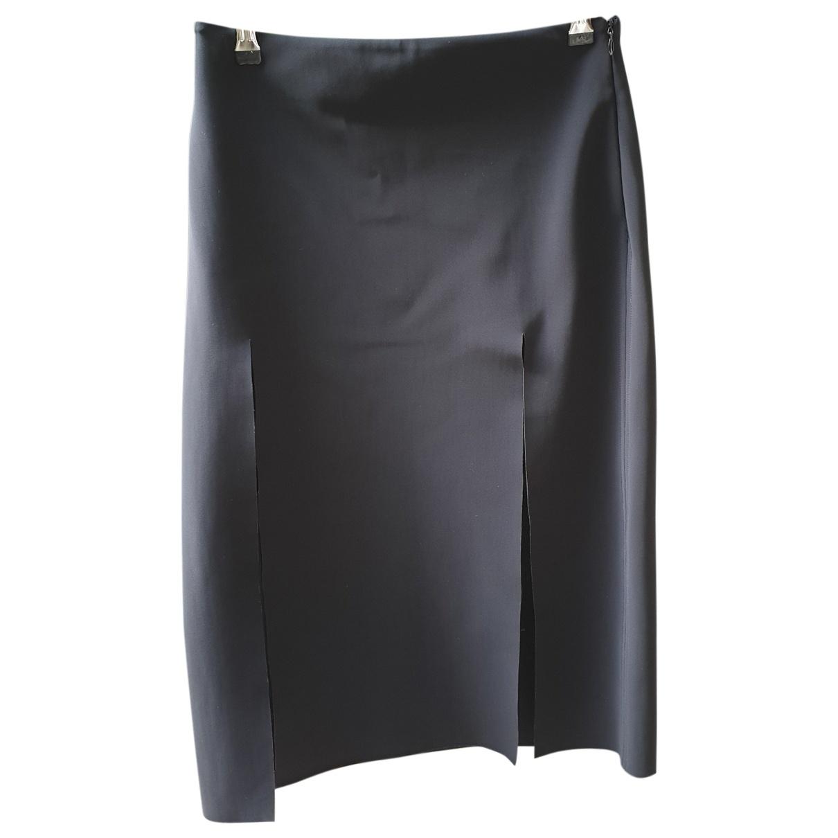Versus - Jupe   pour femme en coton - elasthane - noir