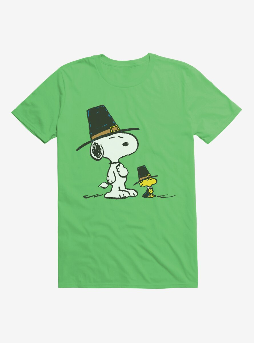 Peanuts Thanksgiving Snoopy and Woodstock Pilgrims T-Shirt