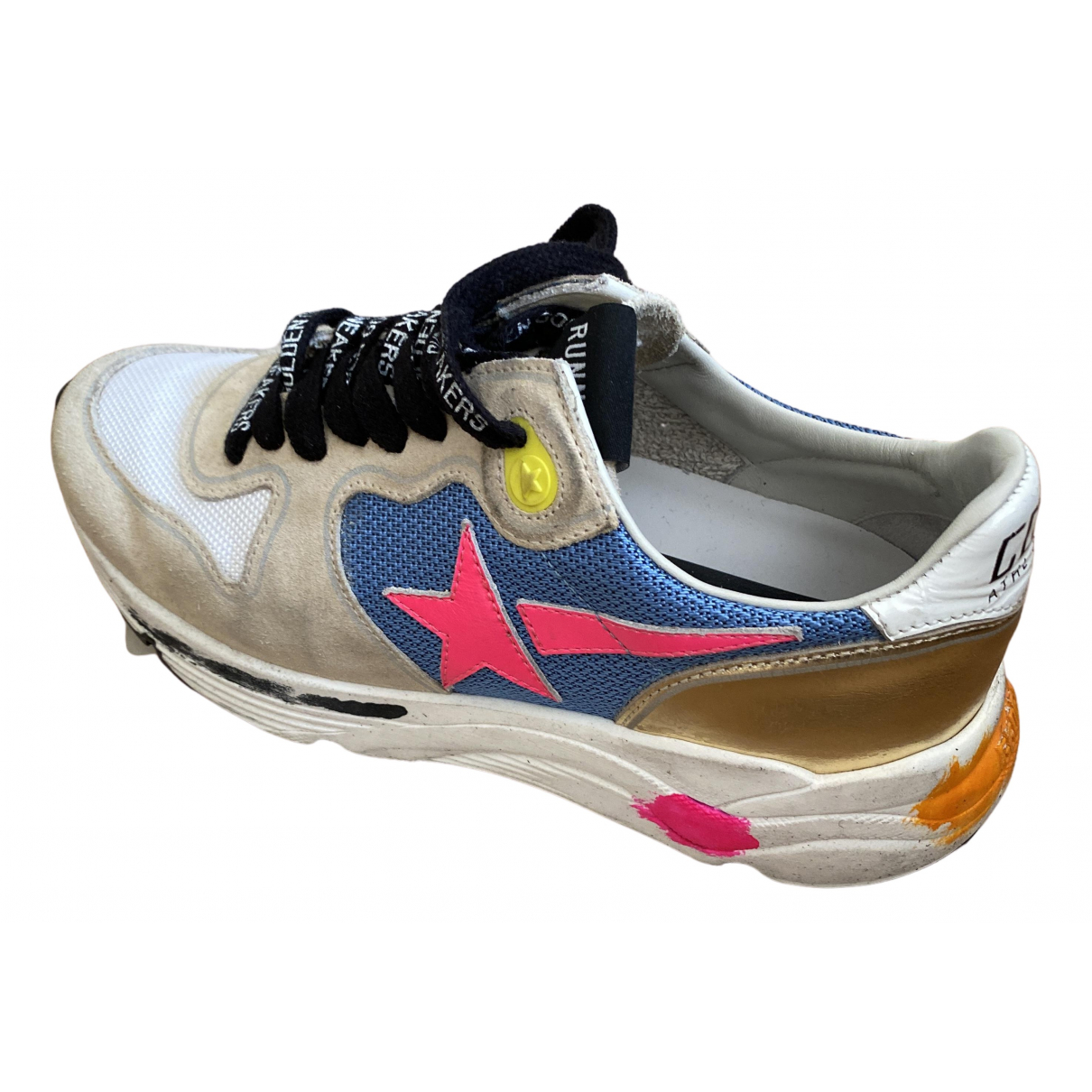 Golden Goose Running White Leather Trainers for Women 35 EU