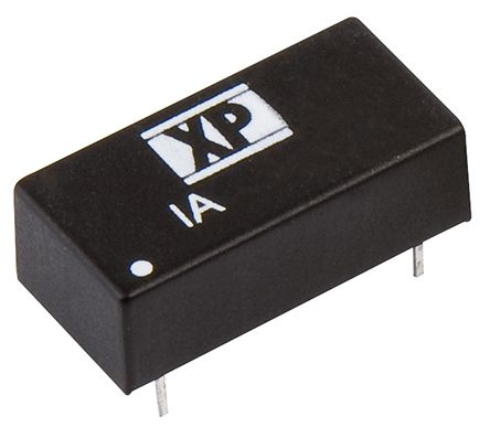 XP Power IA 1W Isolated DC-DC Converter Through Hole, Voltage in 4.5 → 5.5 V dc, Voltage out ±12V dc
