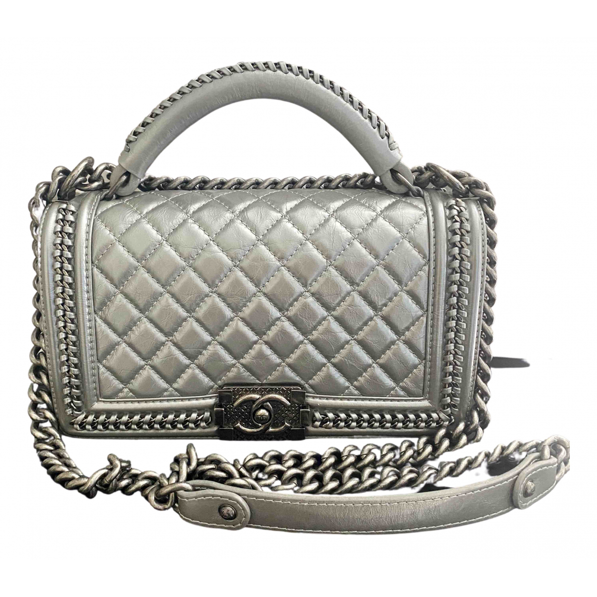 Chanel Boy Metallic Leather handbag for Women N