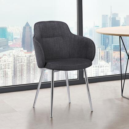 LCTMSICHCHRM Tammy Contemporary Dining Chair in Chrome Brushed Finish and Charcoal