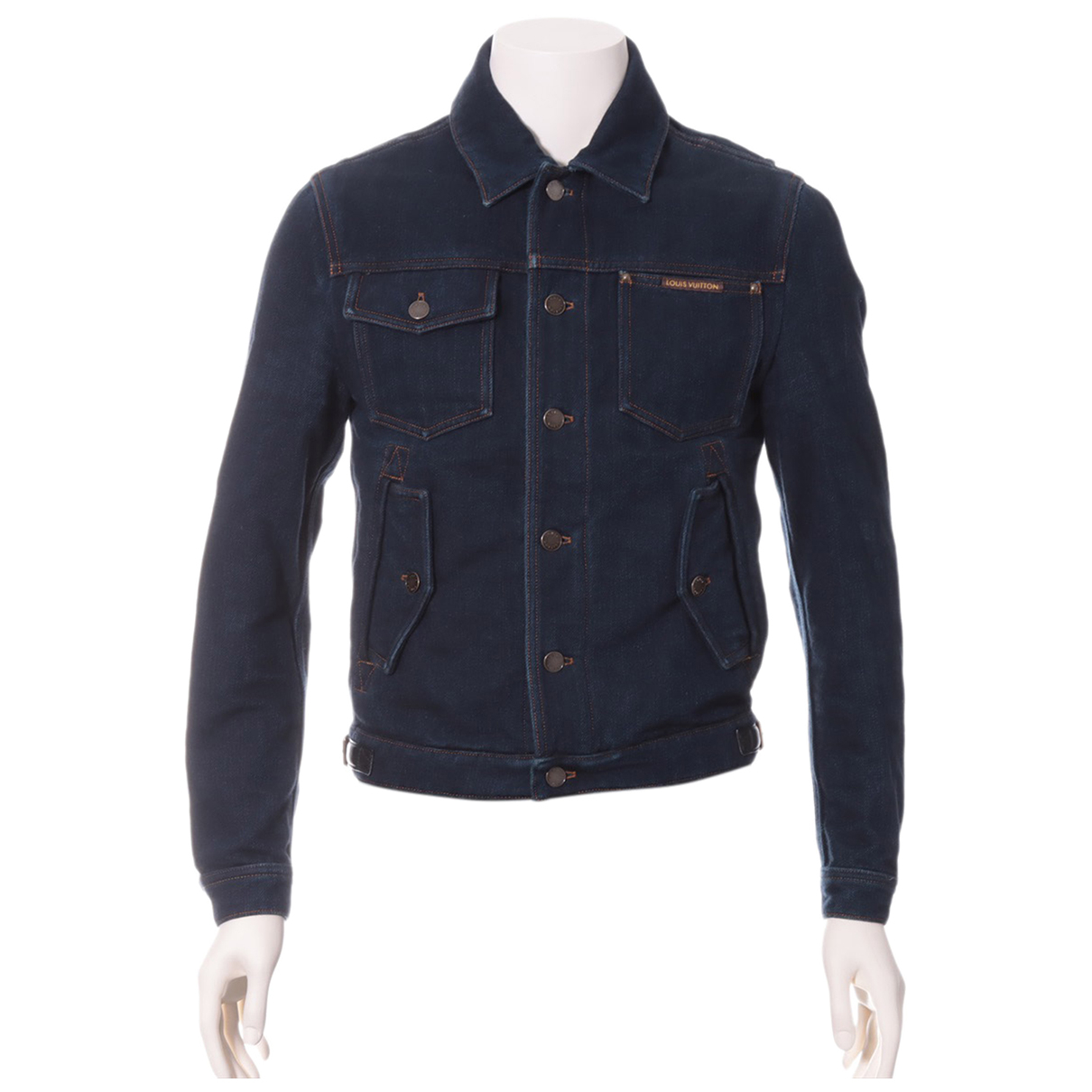 Louis Vuitton N Navy Cotton jacket  for Men 44 FR