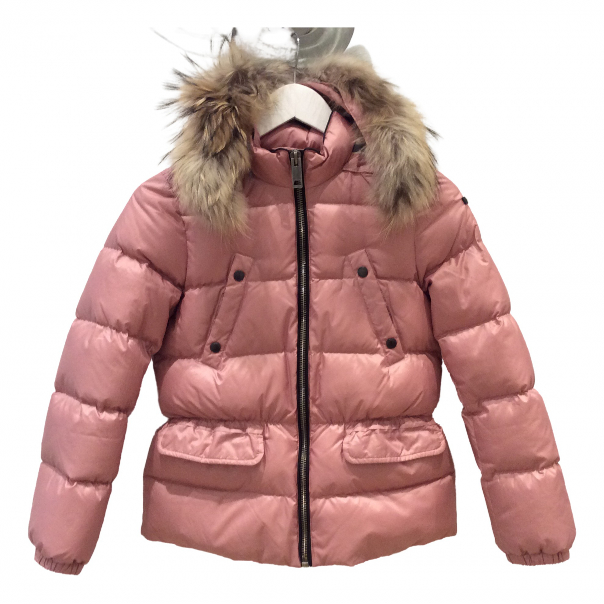 Burberry \N Jacke, Maentel in  Rosa Polyester
