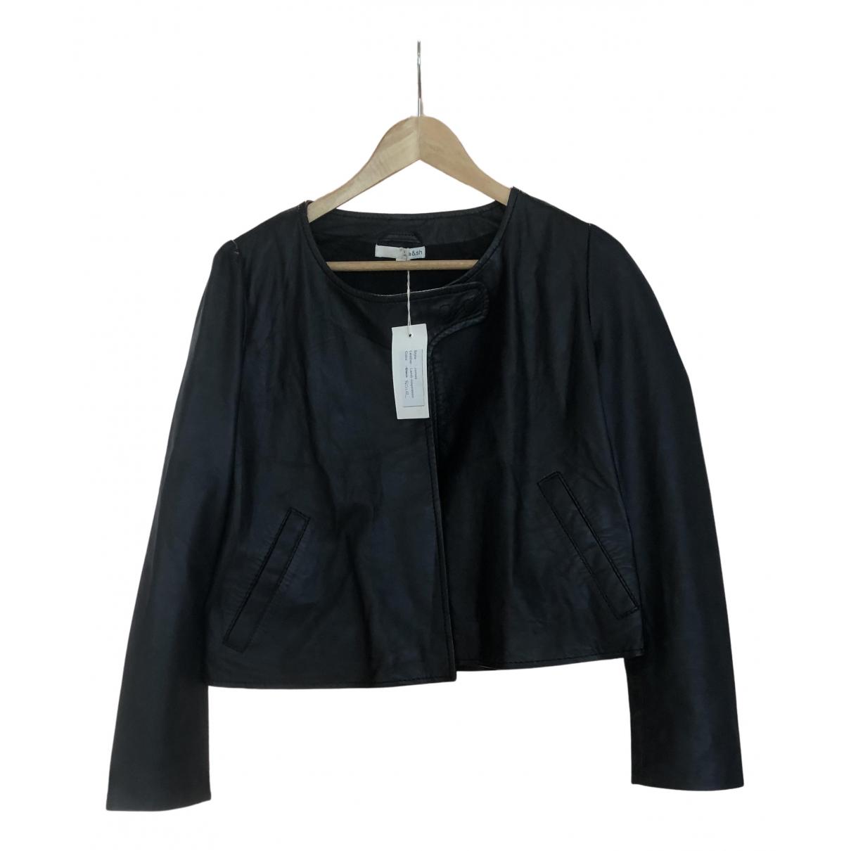 Ba&sh N Black Leather Leather jacket for Women 36 FR