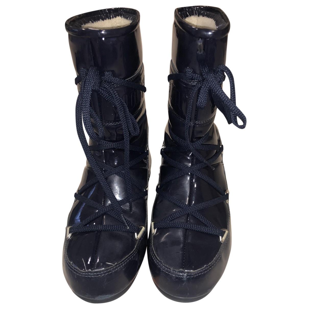 Moon Boot \N Stiefel in  Blau Lackleder