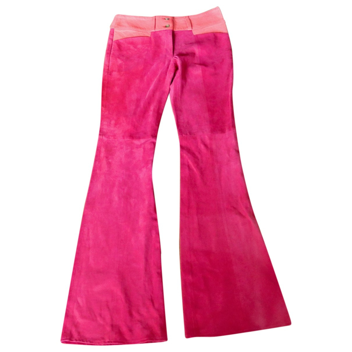 Heimstone \N Pink Suede Trousers for Women 34 FR