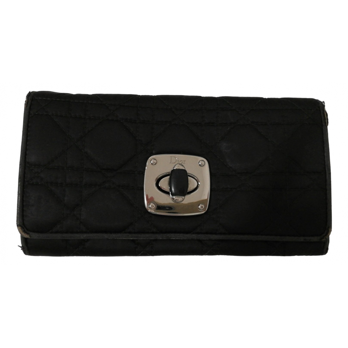 Dior - Portefeuille Miss Dior pour femme en toile - noir