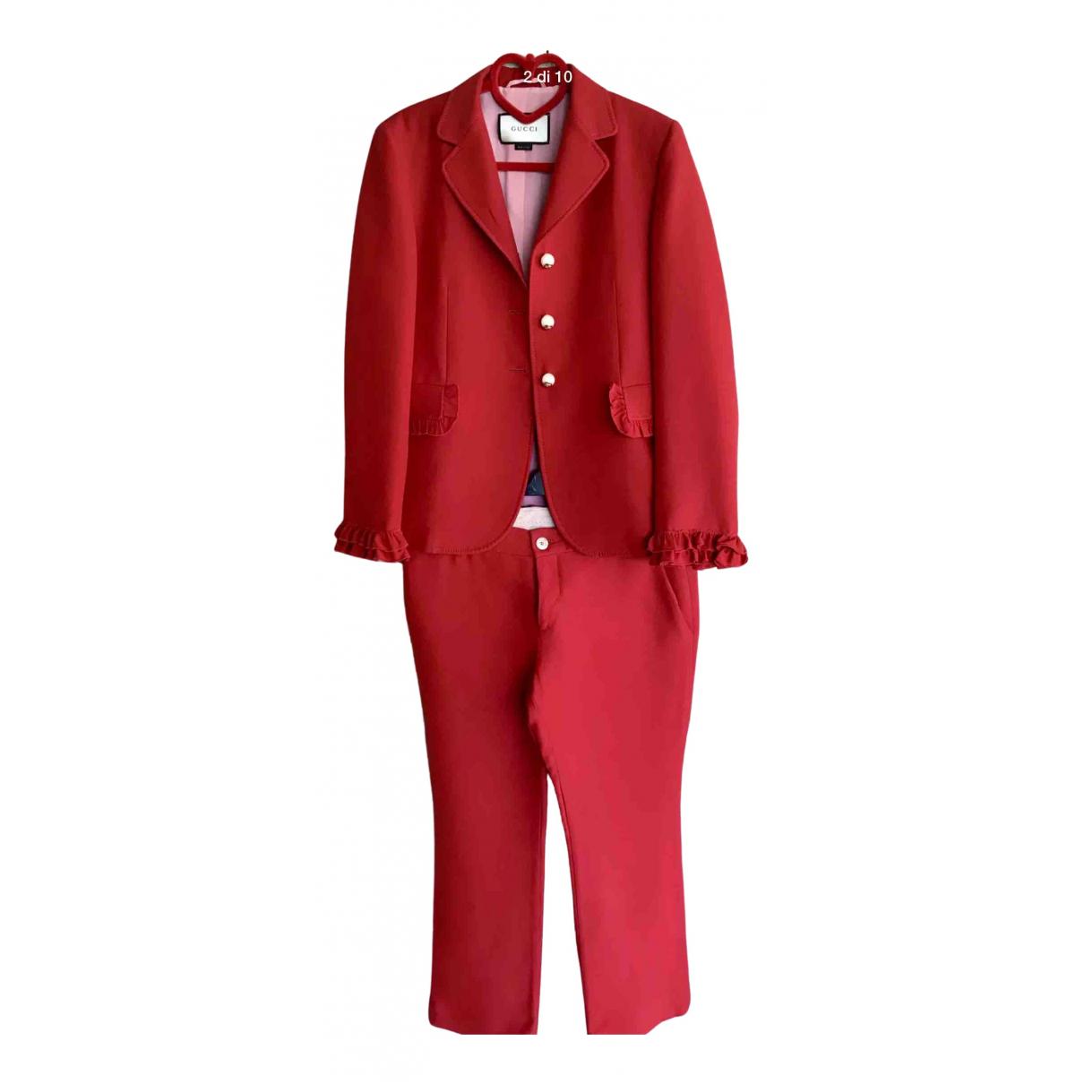 Gucci - Robe   pour femme en laine - rouge