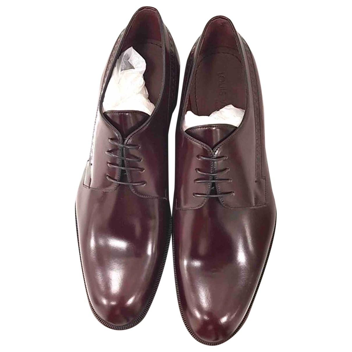 Louis Vuitton - Derbies   pour homme en cuir - bordeaux
