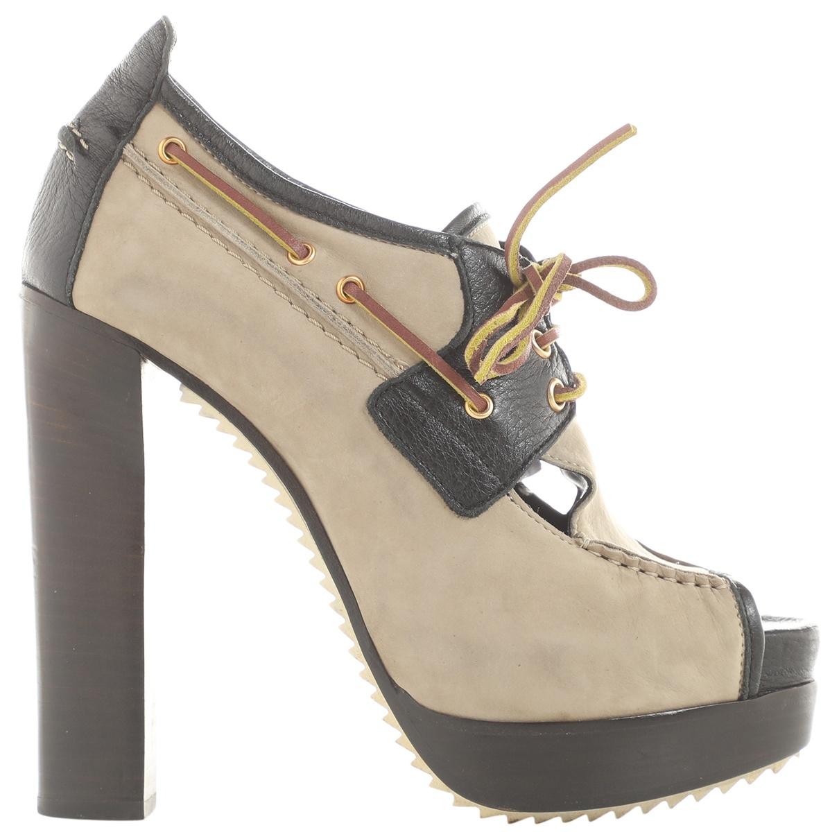 Pierre Hardy \N Grey Leather Heels for Women 37 EU