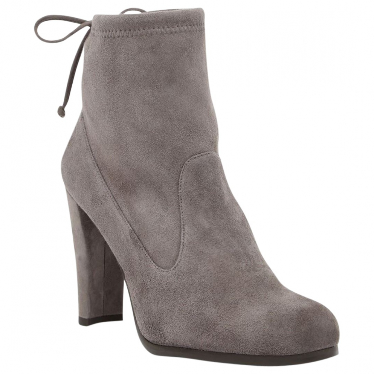 Stuart Weitzman N Grey Suede Ankle boots for Women 39.5 EU
