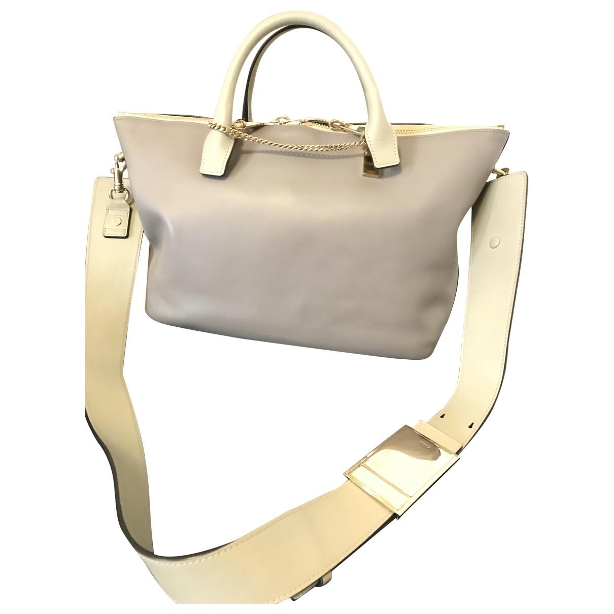 Chloé Baylee Grey Leather handbag for Women \N