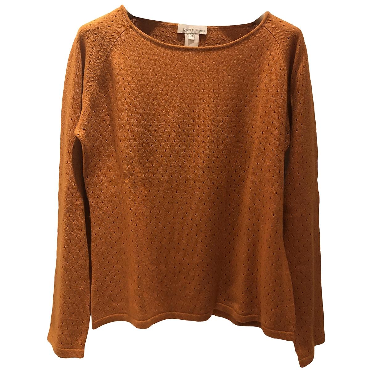 Non Signe / Unsigned \N Pullover in  Orange Seide