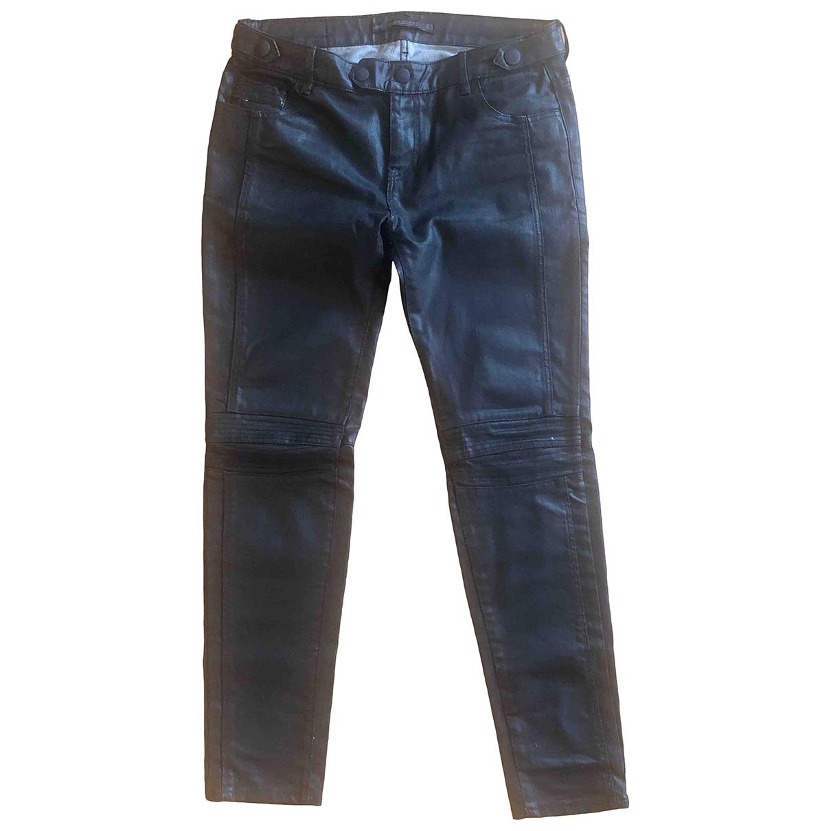 Zara \N Black Cotton - elasthane Jeans for Women 28 US