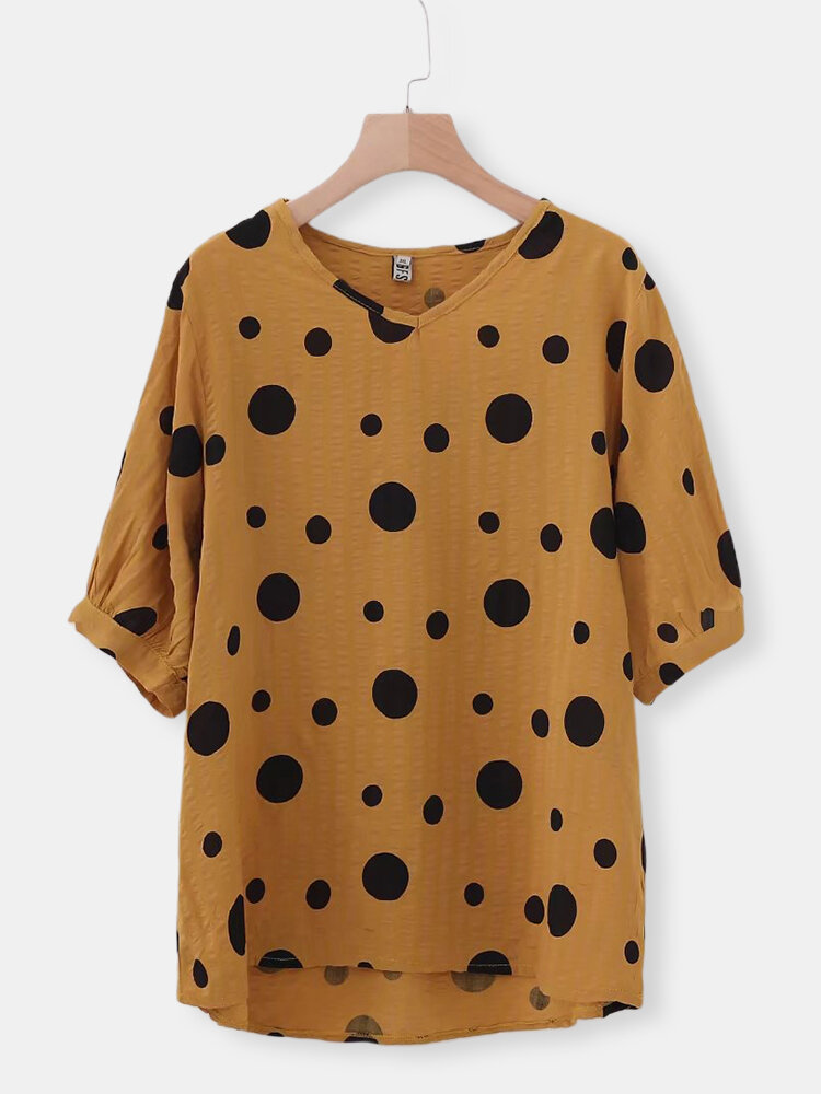 Fashion Polka Dot Summer T-shirts