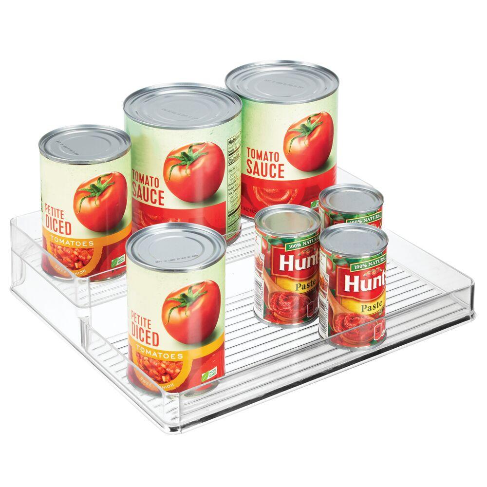 2 Tier Plastic Kitchen Cabinet Food Storage Rack - 10.5