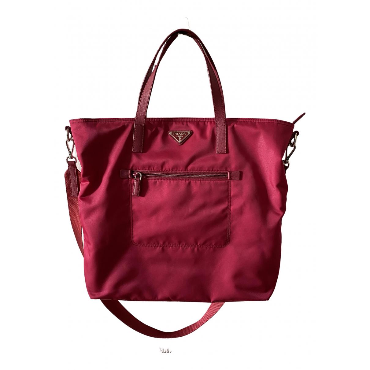 Prada Tessuto  Pink handbag for Women \N