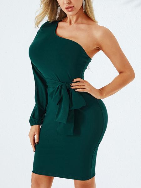 YOINS Cut Out One Shoulder Dress