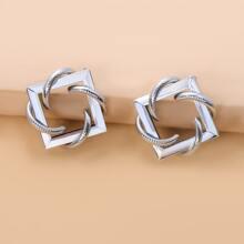 Geometric Shaped Stud Earrings