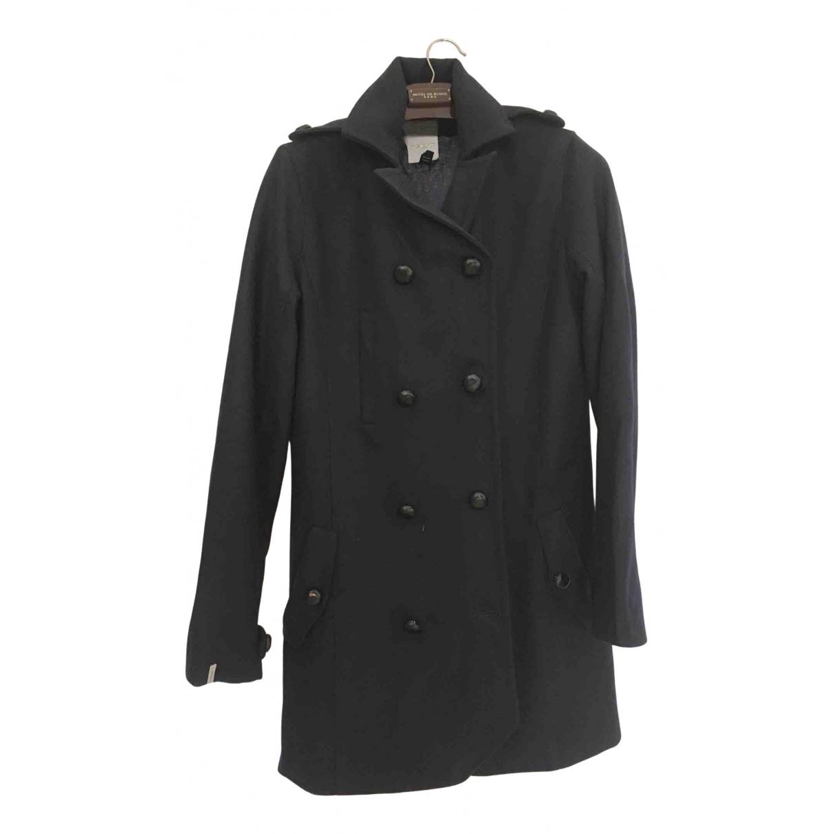 - Manteau   pour femme en laine - bleu